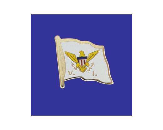 Virgin Islands Lapel Pin (Single Waving Flag)