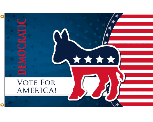 Vote Democrat Flag - 3x5'