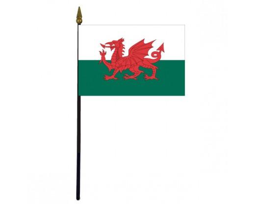"Wales Stick Flag - 4x6"""