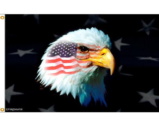 Patriotic War Eagle Flag - 3x5'
