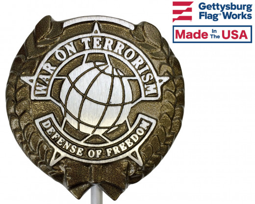 War On Terrorism (Darker Design) Aluminum Grave Marker