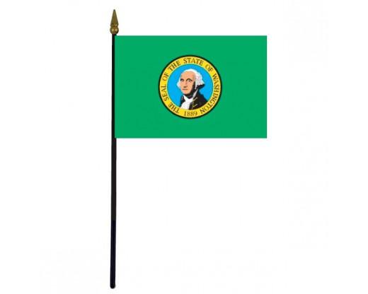 "Washington State Stick Flag - 4x6"""