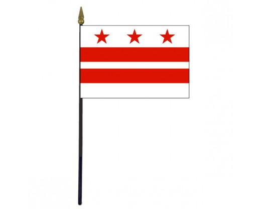 District Of Columbia Stick Flag - 4x6""