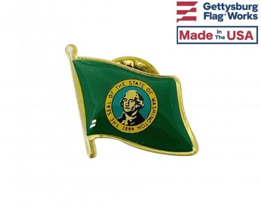 Washington State Flag Lapel Pin (Single Waving Flag)