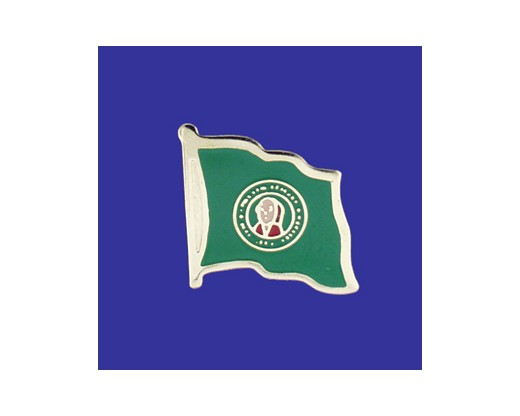 Washington State Flag Lapel Pin (Single Waving Flag) (Imported - Close Out)
