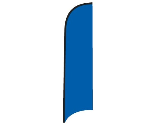 Blank Nylon Wave Flag - Royal Blue - 12'