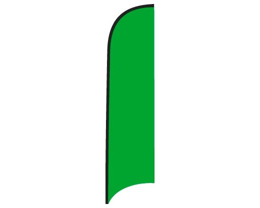 Blank Nylon Wave Flag - Emerald Green - 12'