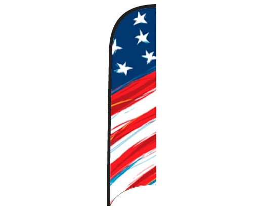 Wave Flag - Stars & Stripes Sketch