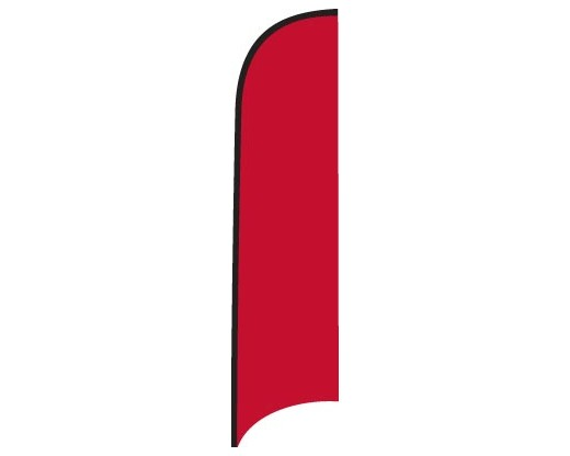Blank Nylon Wave Flag - 12'