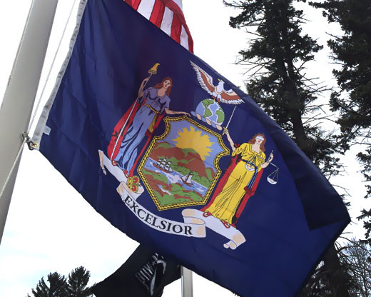 New York State Flag Waving