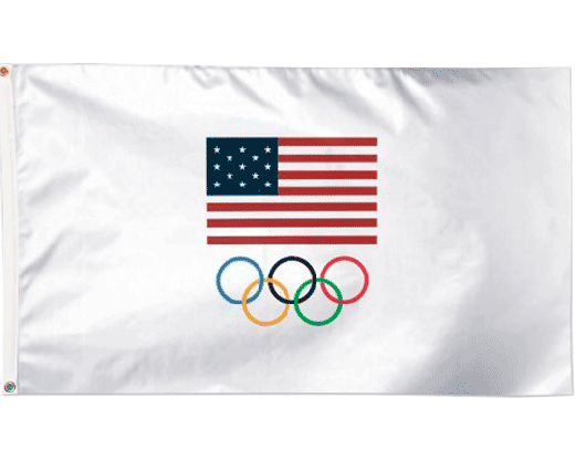 USOC Olympic Rings Flag