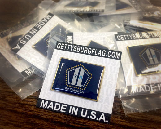 "NYS 9/11 ""We Remember"" Lapel Pin Pile"