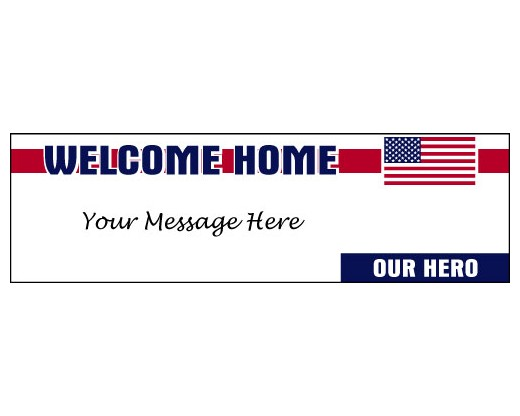 Welcome Home Our Hero Banner