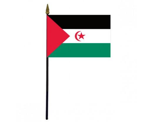 "Western Sahara Stick Flag - 4x6"""