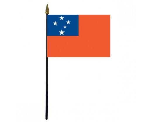 "Western Samoa Stick Flag - 4x6"""