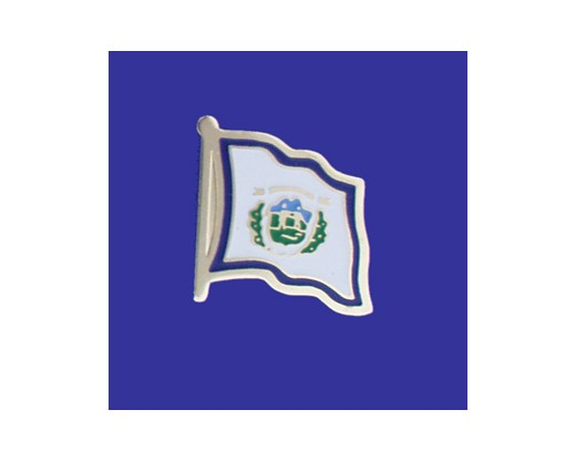 West Virginia State Flag Lapel Pin (Single Waving Flag) (Imported - Close Out)