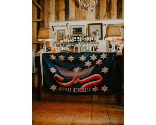 whiskey rebellion flag on bar