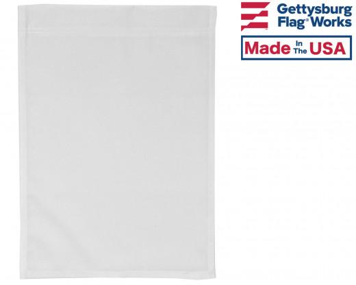 White Nylon Garden Flag