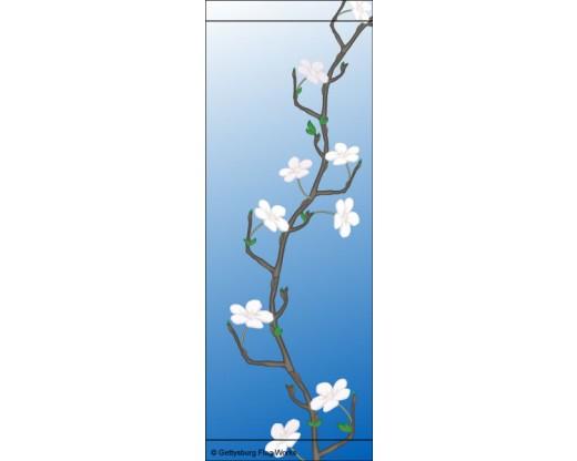 White Flowers Avenue Banner