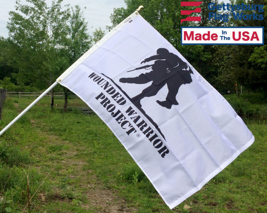 Wounded Warrior Flag Flying