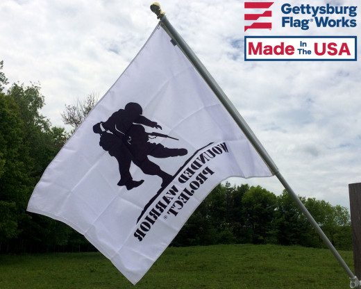 Back of Wounded Warrior Flag