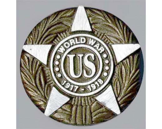 WWI Aluminum Grave Marker