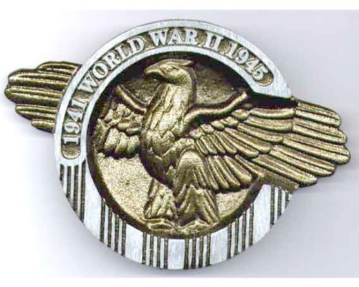 WWII Aluminum Grave Marker