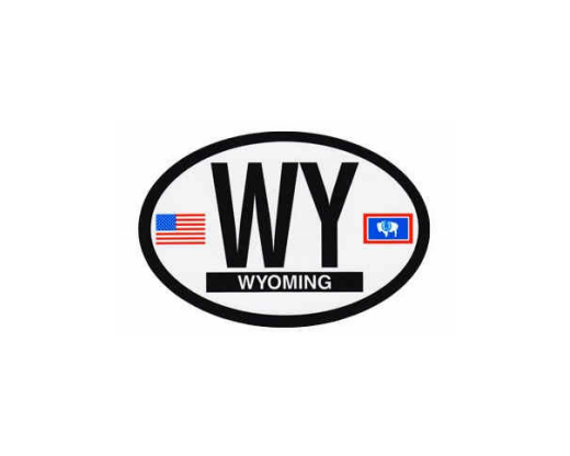 Wyoming Oval Sticker