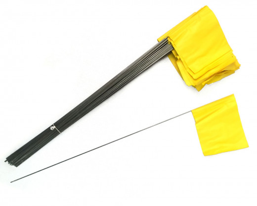 Yellow Plastic Marking Flags