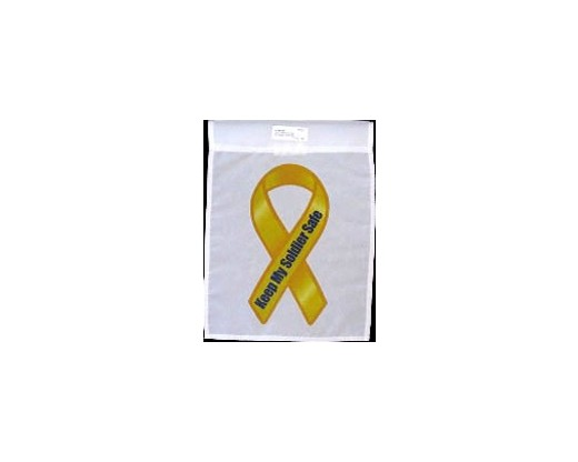 Keep My Soldier Safe Garden Flag