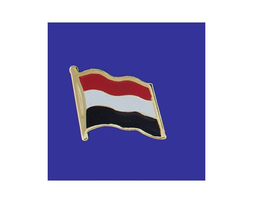 Yemen Lapel Pin (Single Waving Flag)