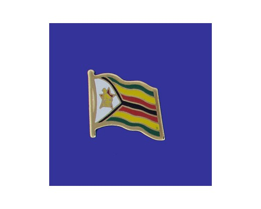Zimbabwe Lapel Pin (Single Waving Flag)