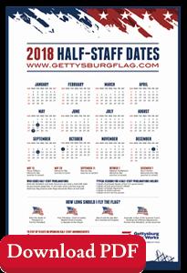 Half Staff Dates Poster 2018