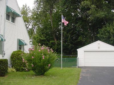 fiberglass residential flag pole
