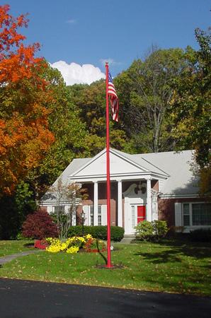 Red fiberglass flagpole