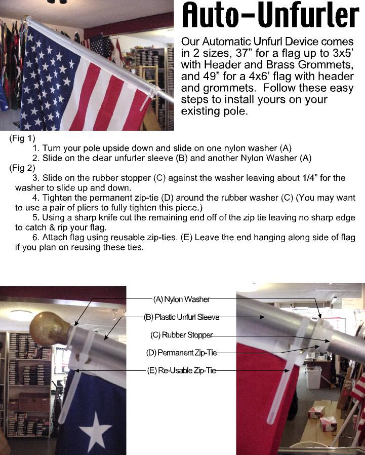 Flag Unfurler Instructions