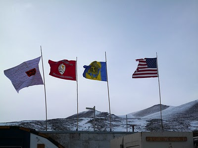 Custom Flag Flying in Antarctica