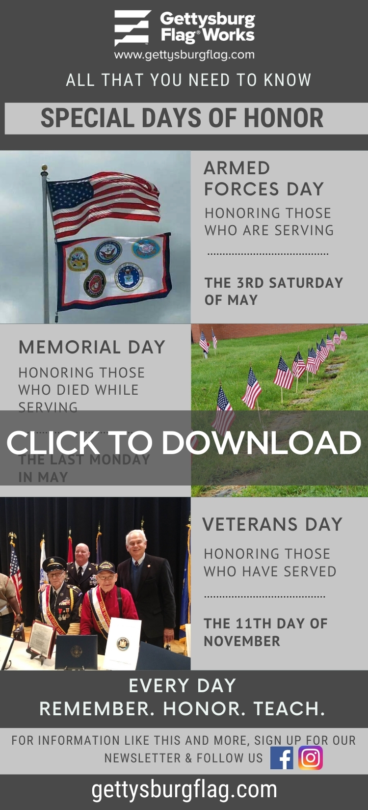 Special Days of Honor Infographic