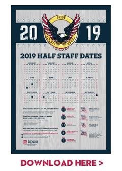 Half Staff Dates Poster 2019