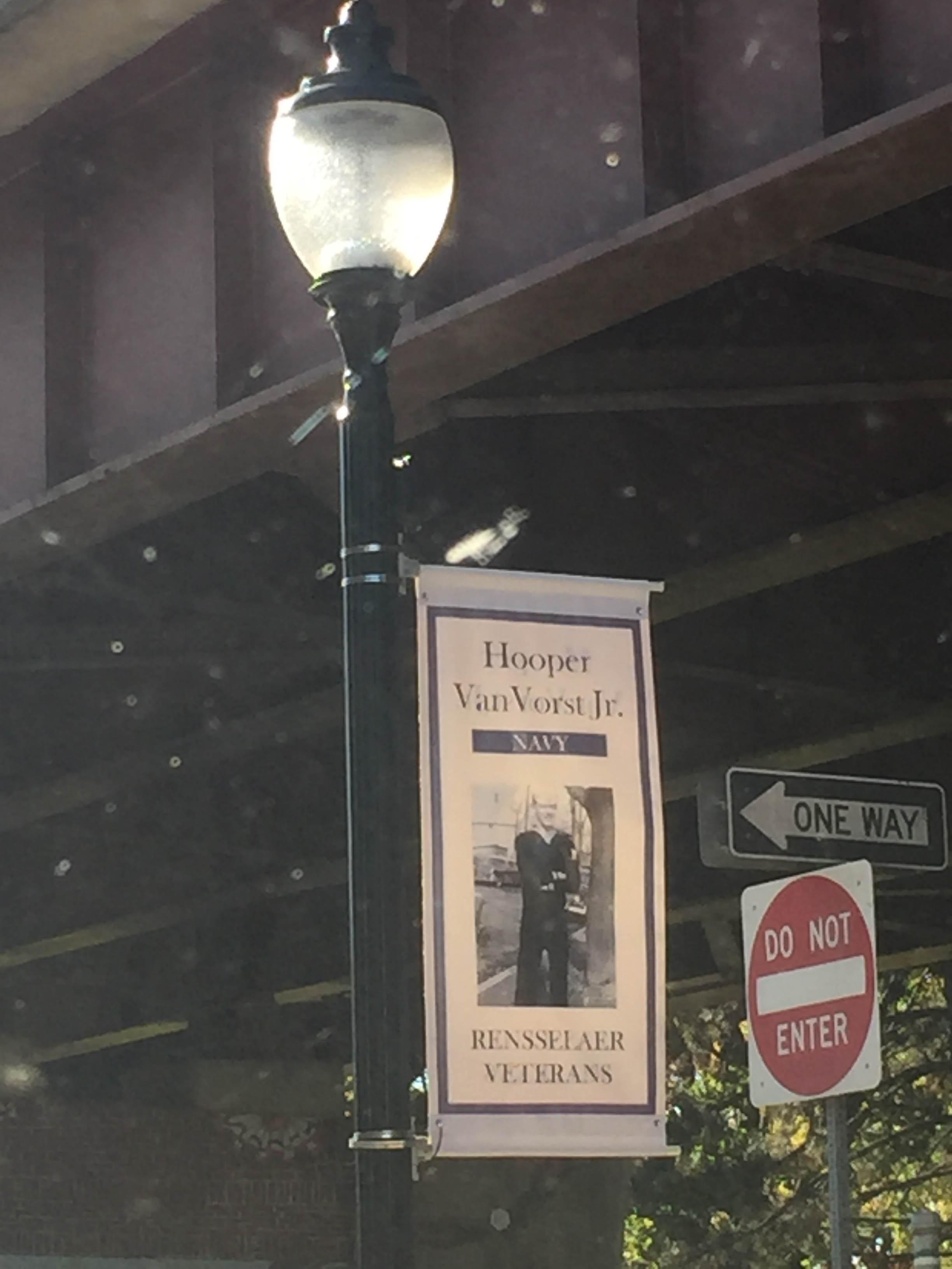 Custom Veteran Street Pole Banner